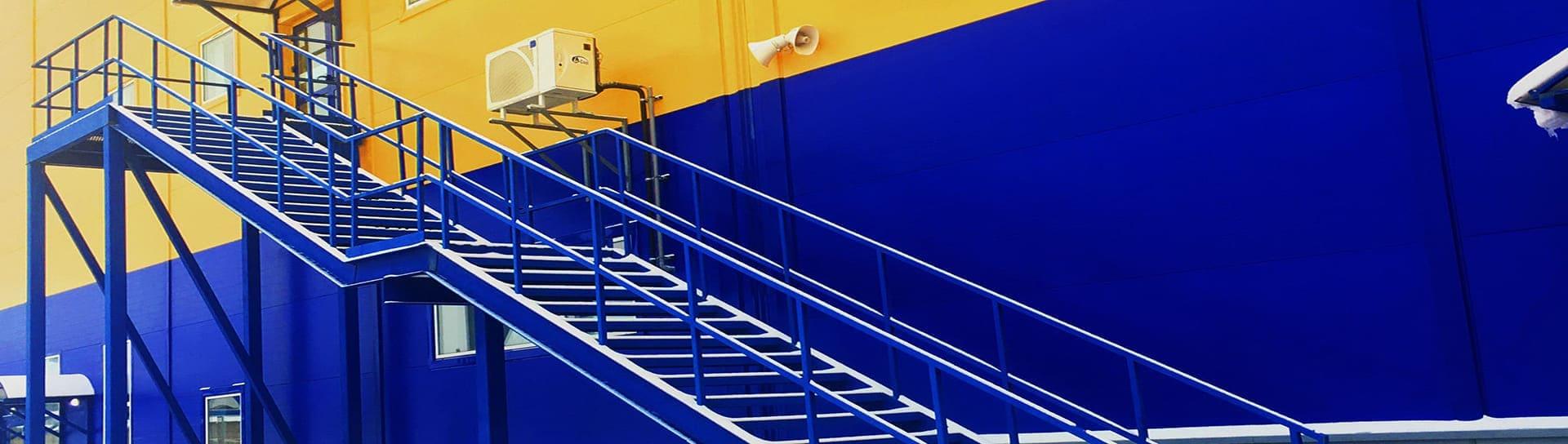 Металлическая маршевая лестница П2
