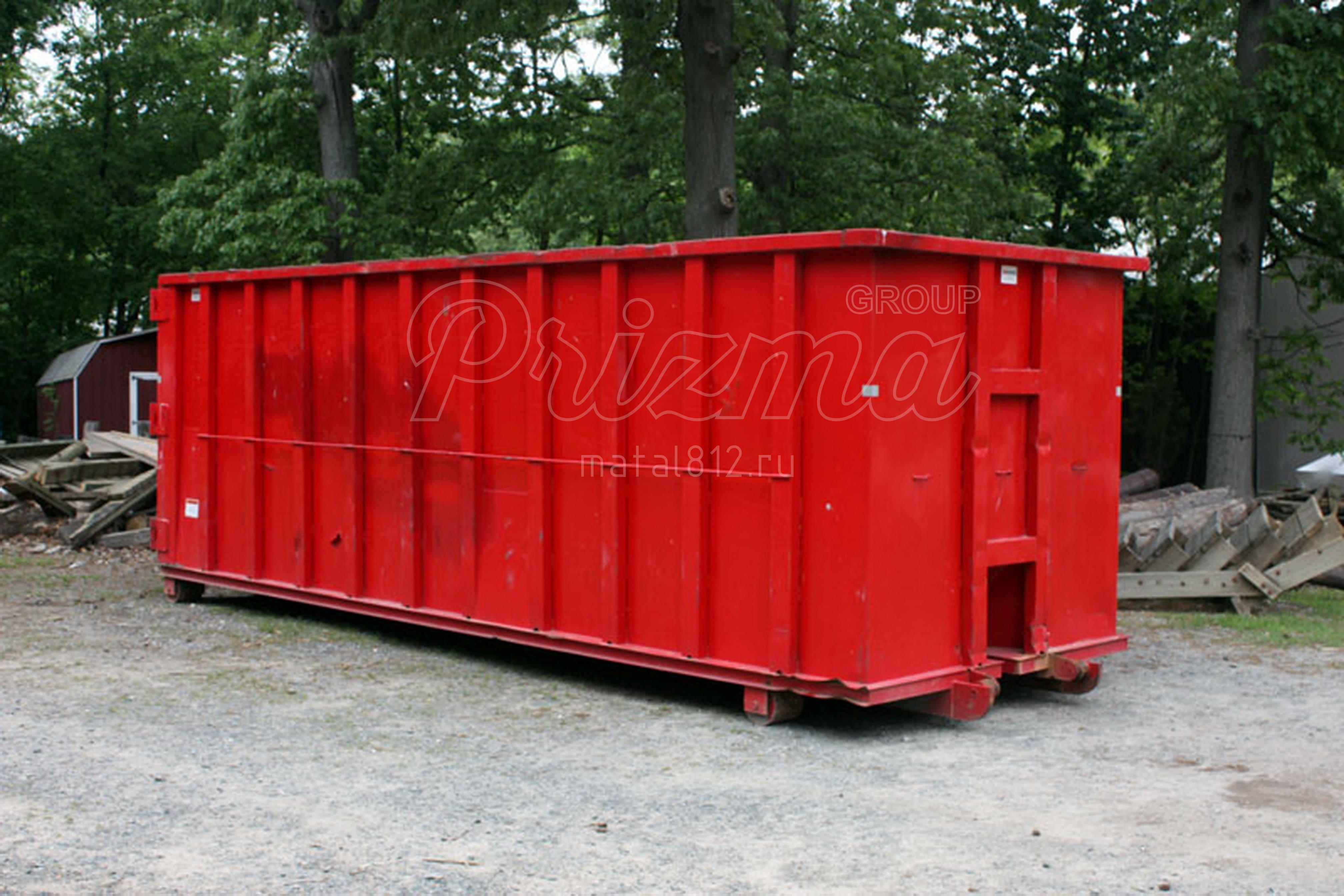 контейнер мусорный металлический