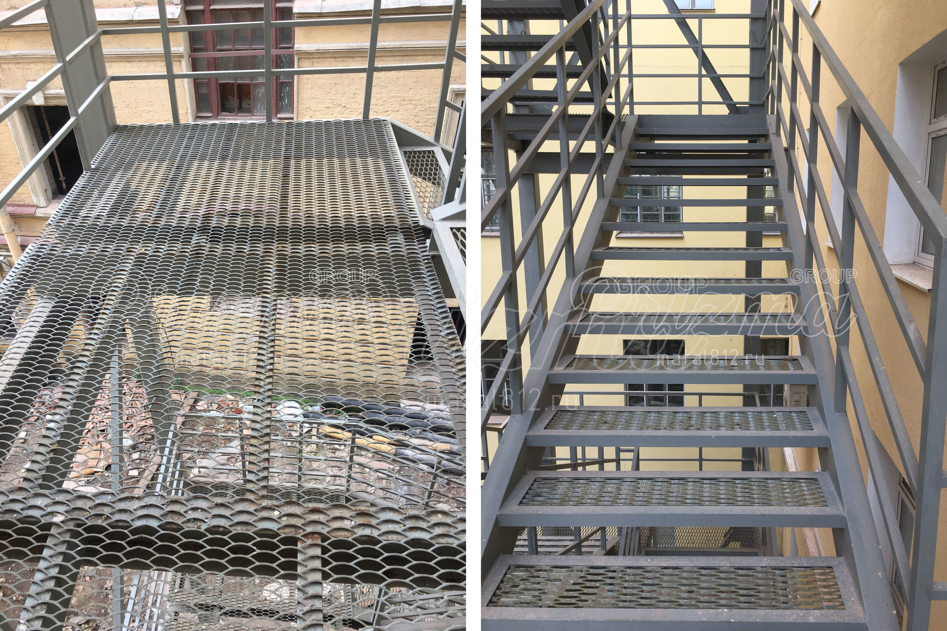 Ограждение маршевых наружных лестниц П2
