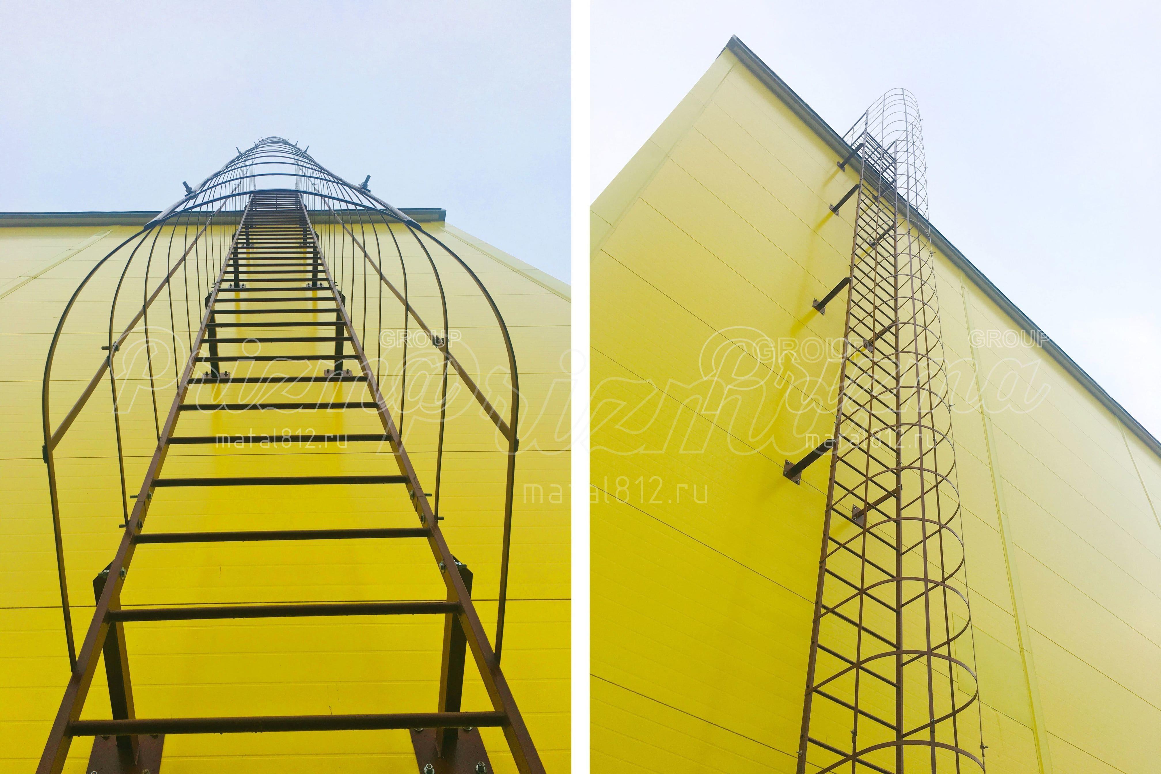Ограждение вертикальных наружных лестниц П1-2