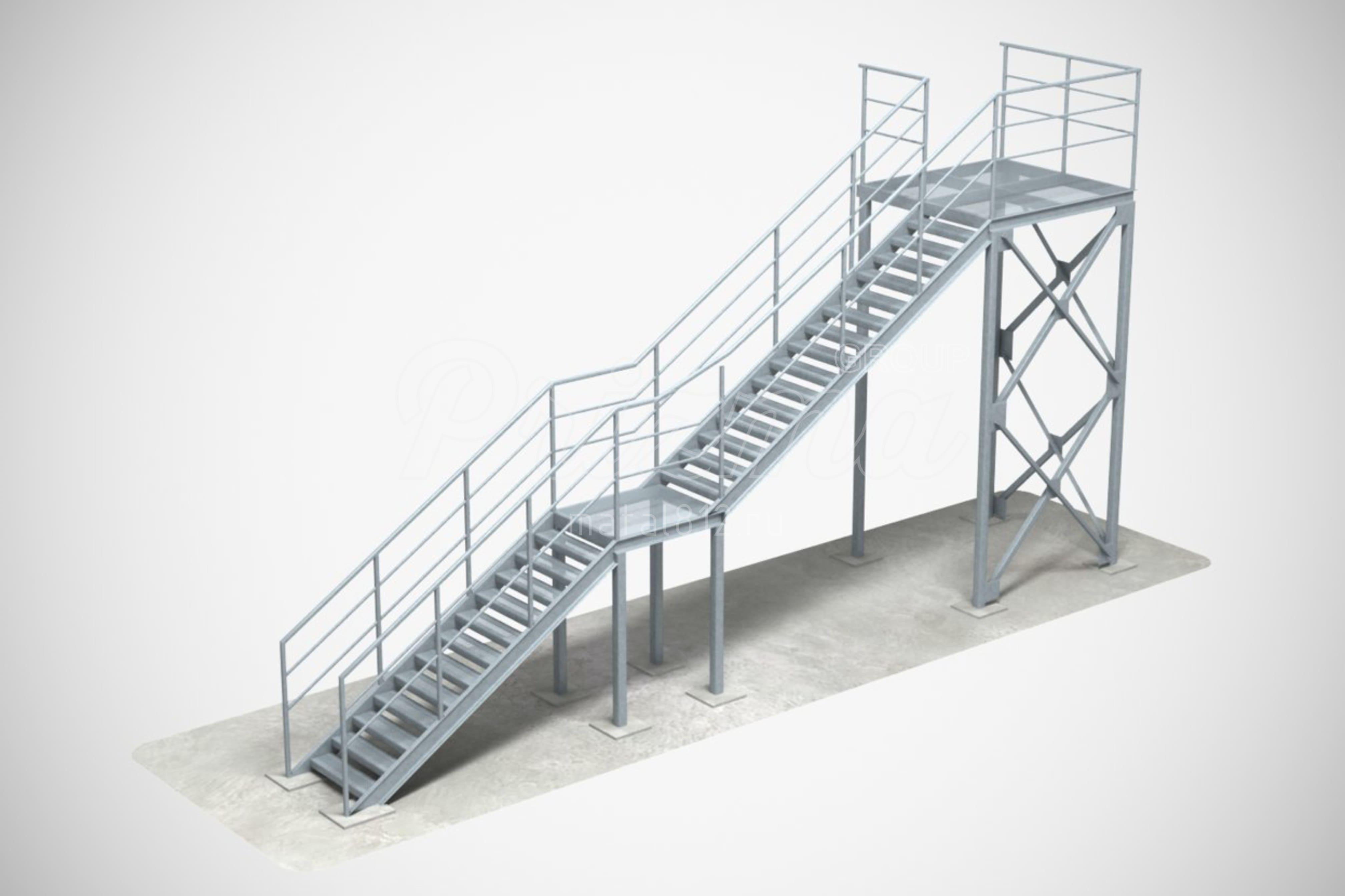 Наружная пожарная лестница П2