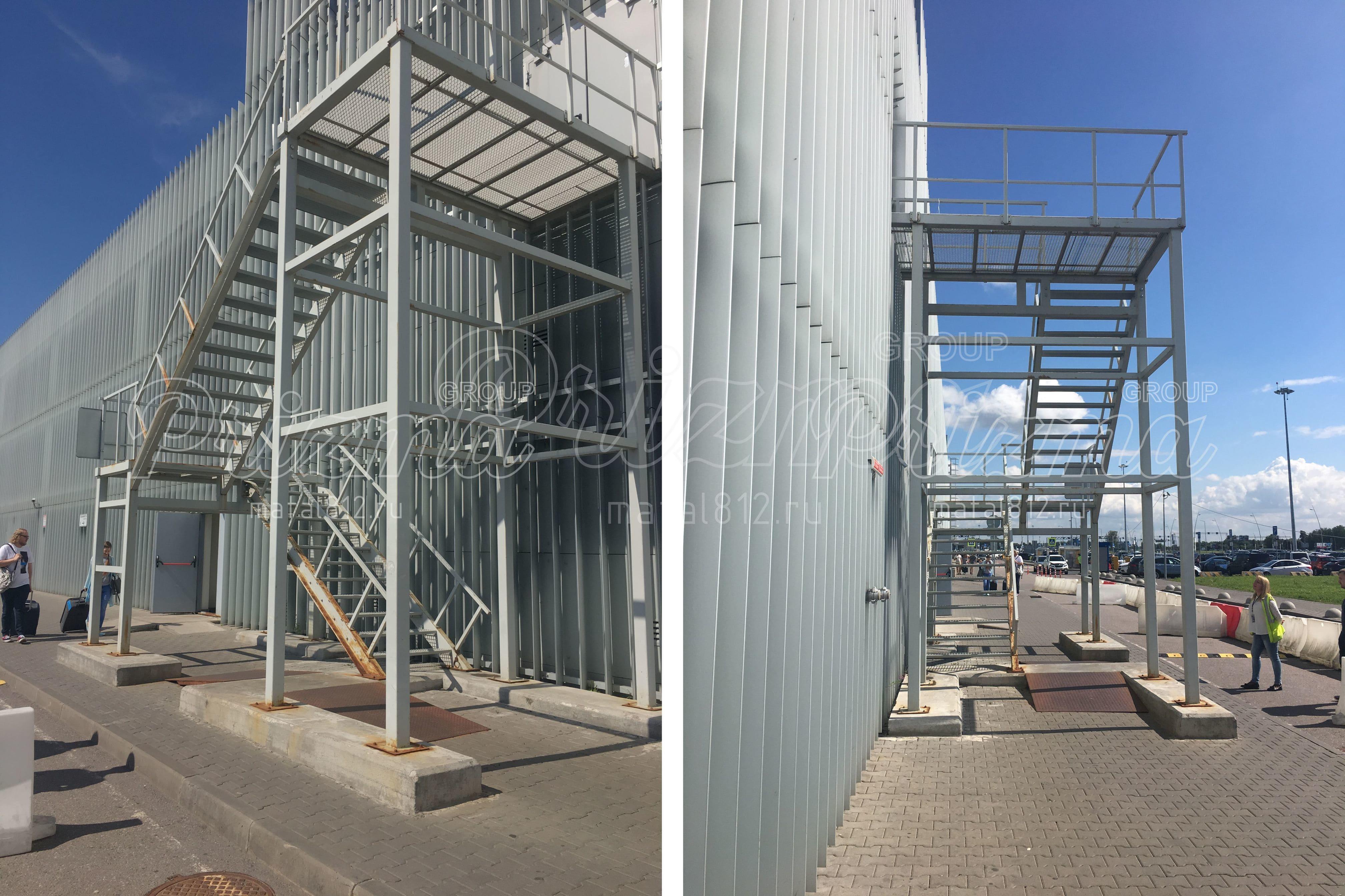 Эвакуационная металлическая лестница П2 в СПб