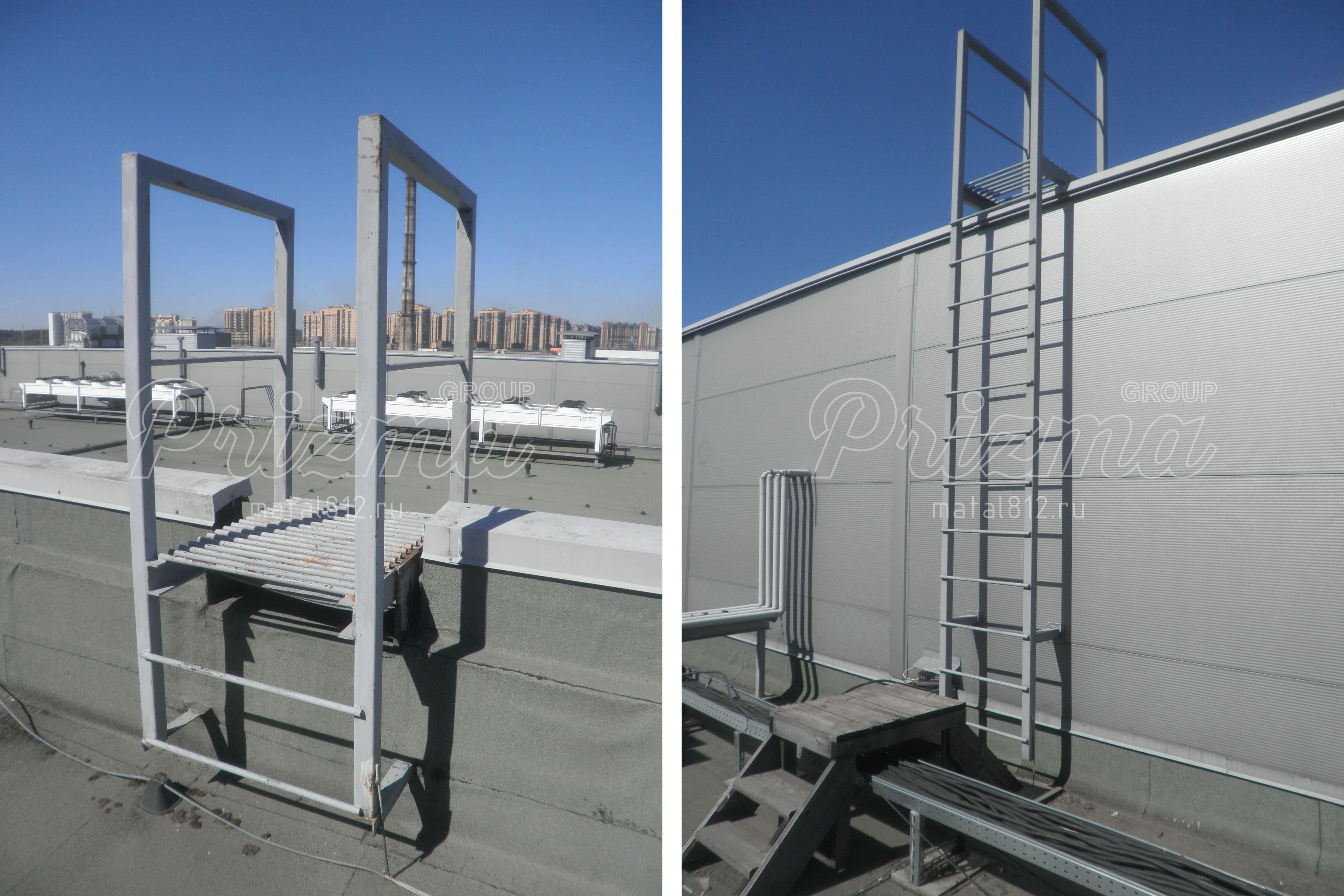 Вертикальная пожарная лестница П1-1 без ограждений