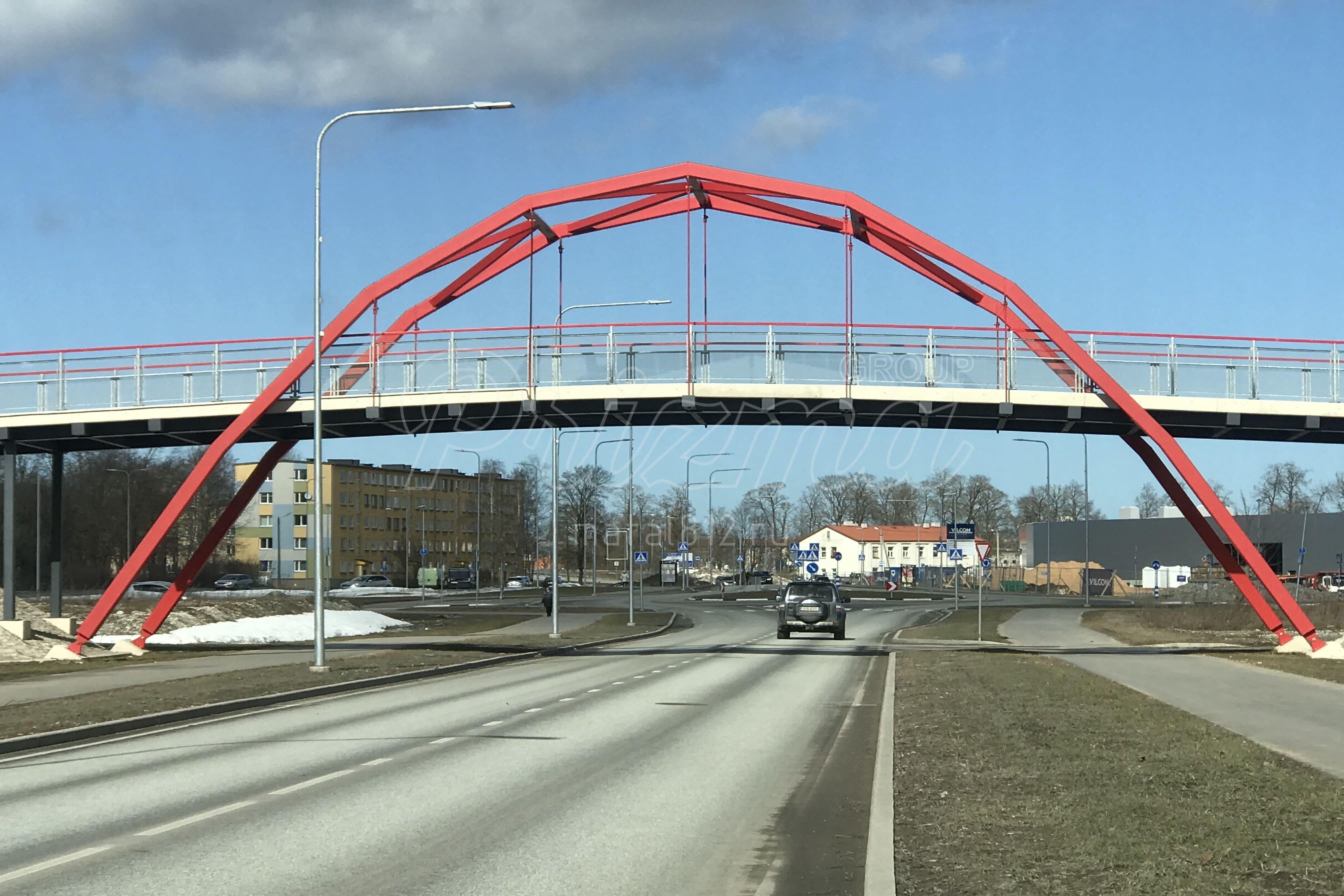 Монтаж моста металлического