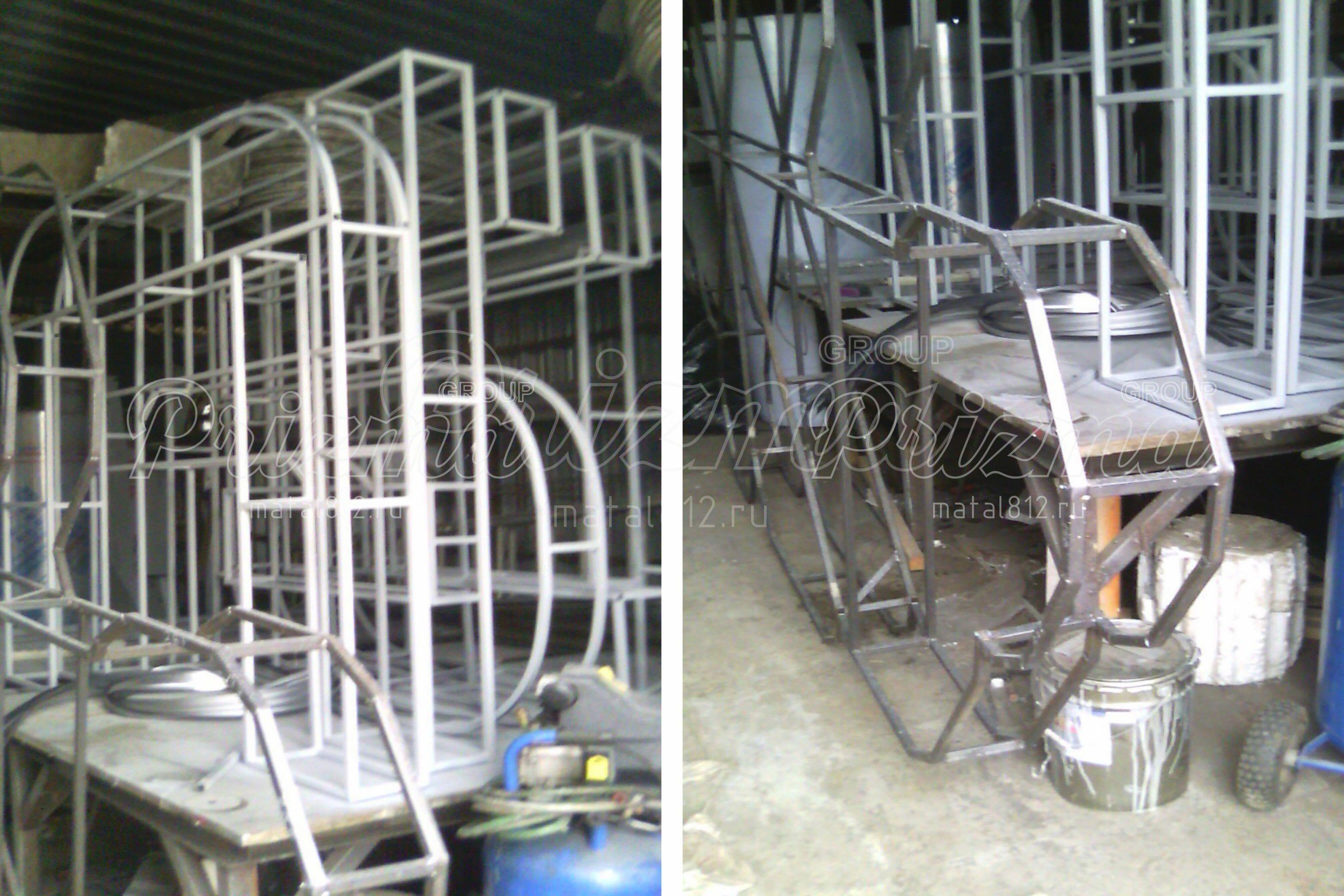 Изготовление металлических рам для объёмных букв и световых коробов.