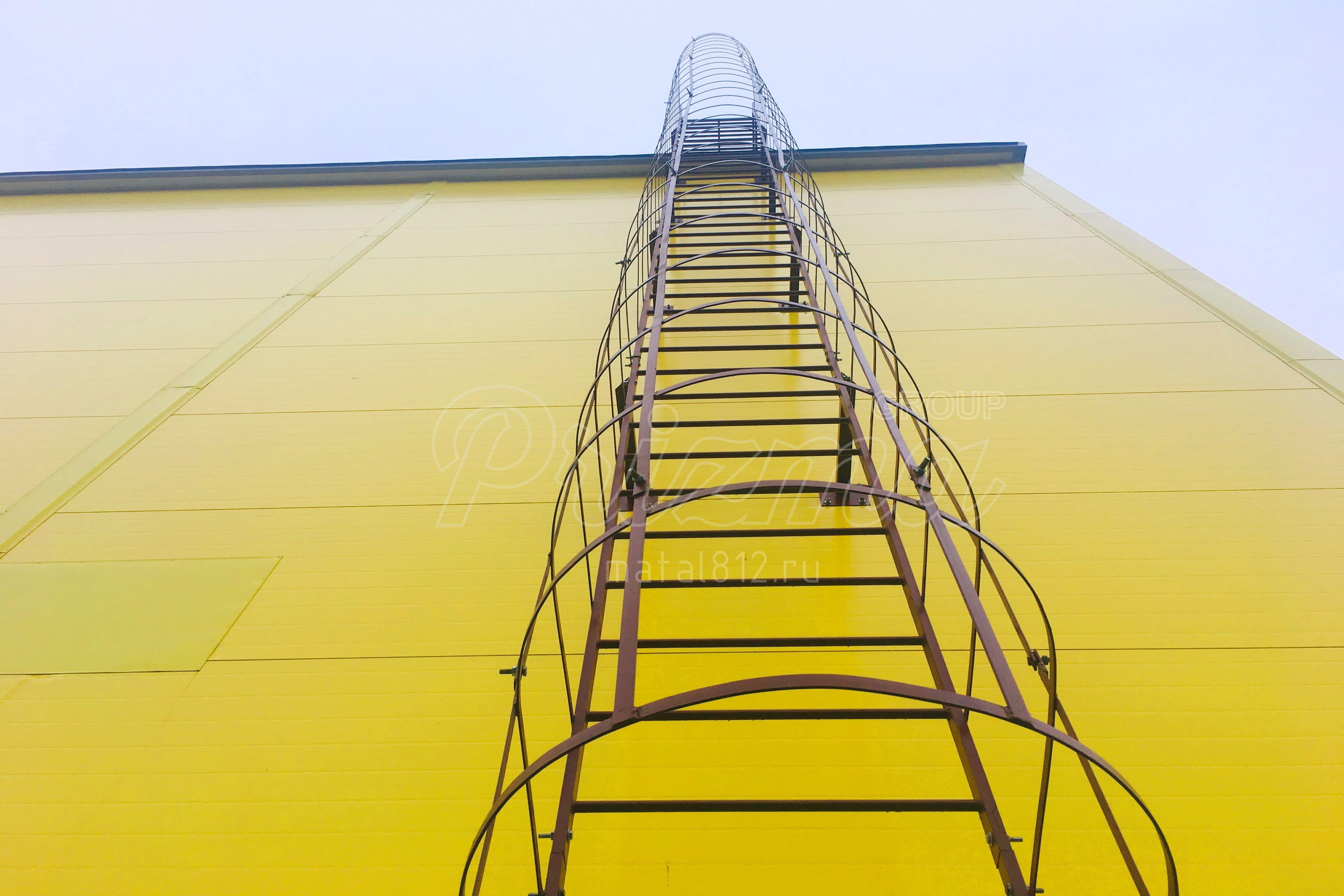 Ограждение лестниц П1-2 в СПб окраска в RAL