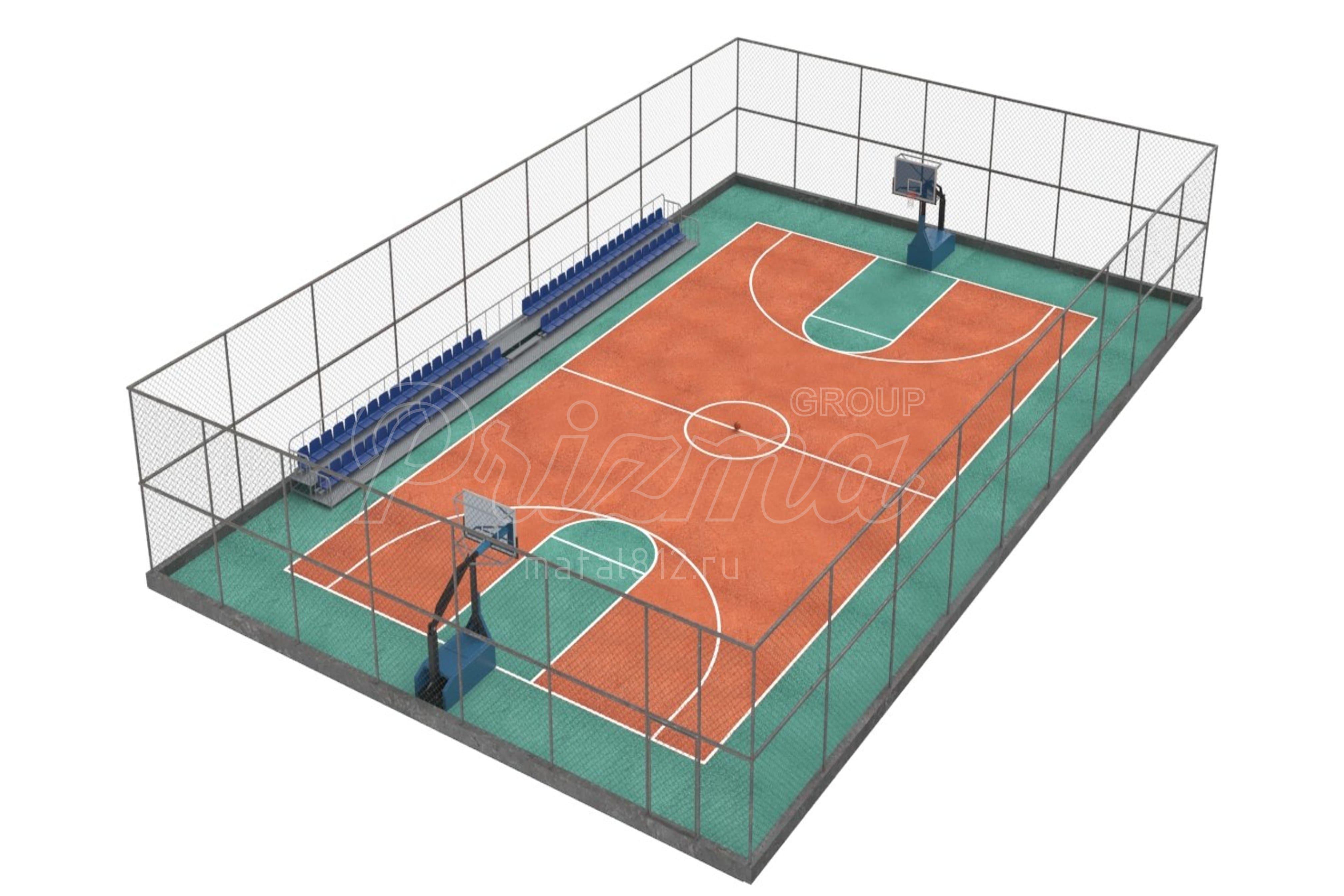 баскетбольная площадка изготовление