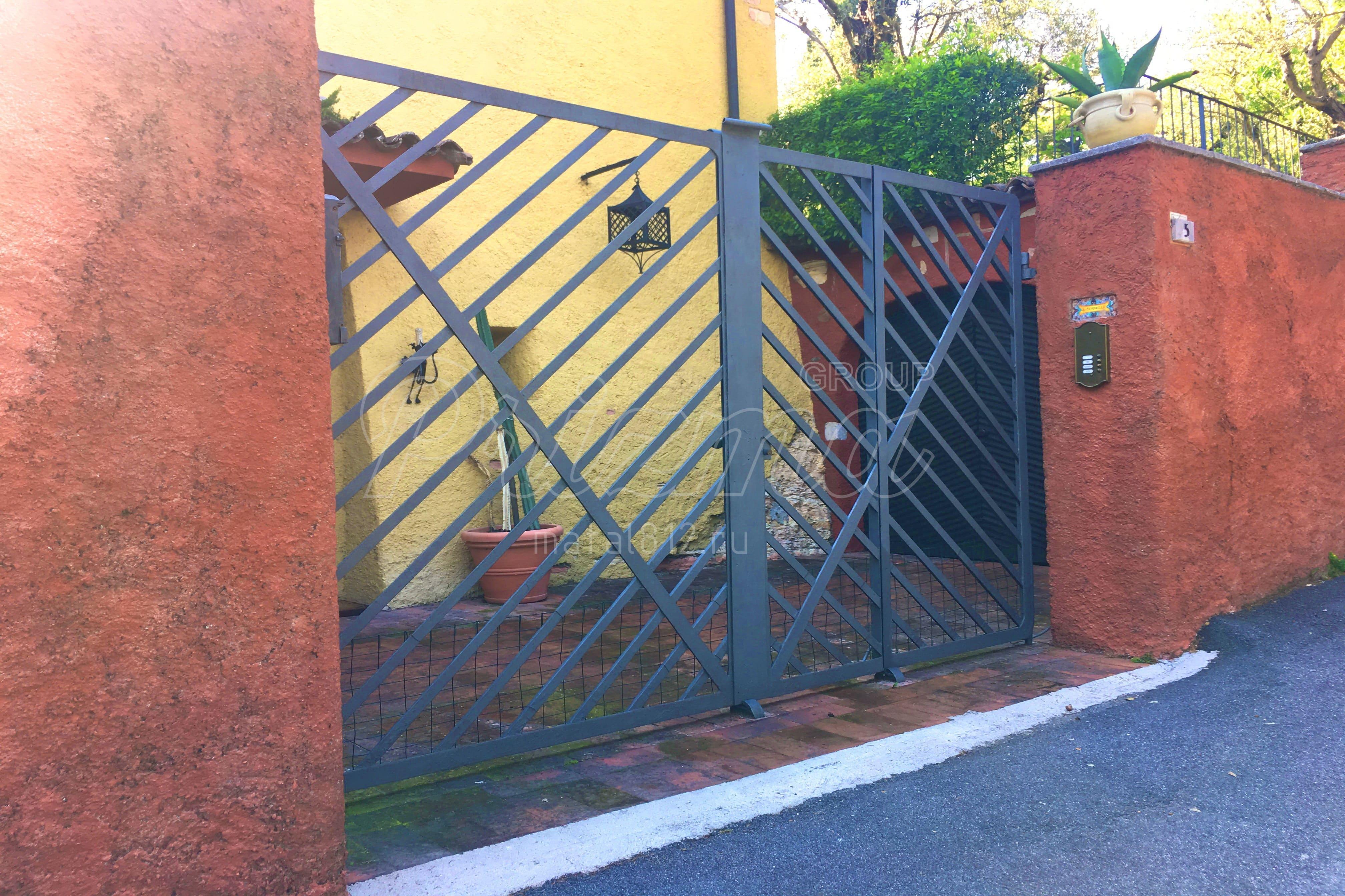 Монтаж ворот металлических - откатных